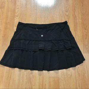 Lululemon Pace setter skirt skort All black